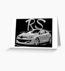 Megane 3 RS & quot; Low Style & quot; Greeting Card