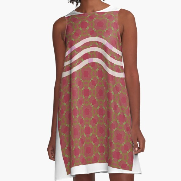 Floral pattern red A-Line Dress