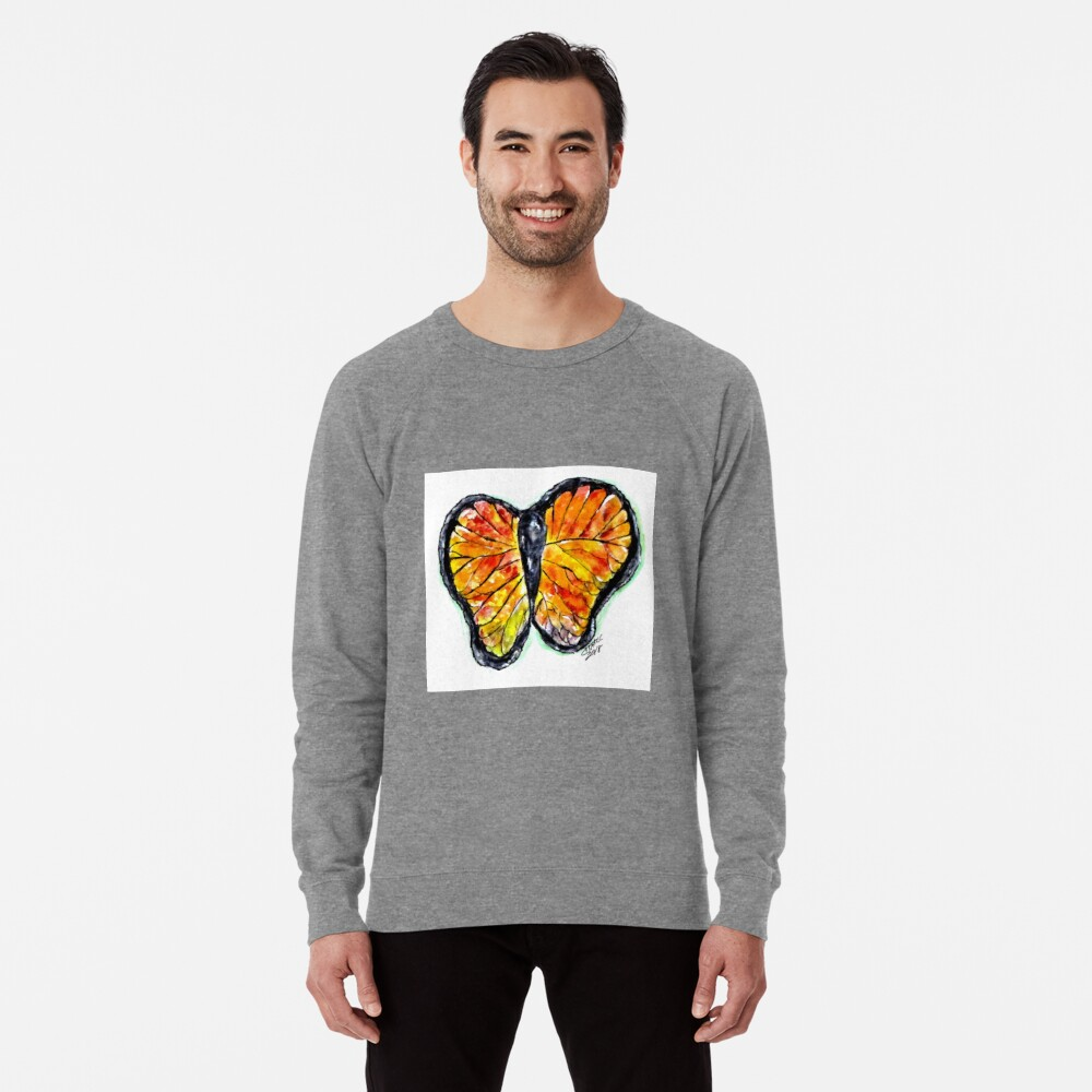 Glass Butterfly Digitally Enhanced Lightweight Sweatshirt