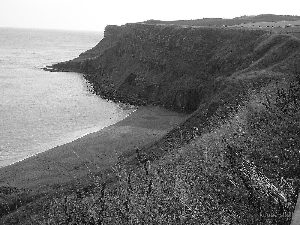 Whitby cliffs by kaotic-shell