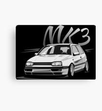 Golf 3 GTI MK3 & quot; Low Style & quot; Canvas Print