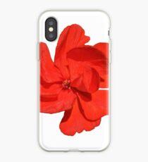 Geranium single red flower iPhone Case