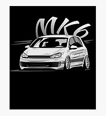 Golf 6 GTI MK6 & quot; Low Style & quot; Photographic Print