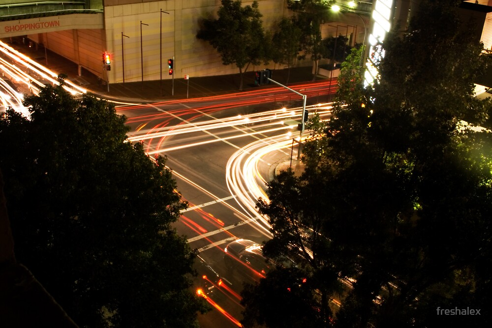 Street Lights at a busy intersection by freshalex