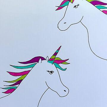 Rainbow Unicorn by ranjaniart