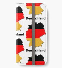 Deutschlandkarte iPhone Flip-Case/Hülle/Skin