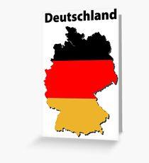 Deutschlandkarte Grußkarte
