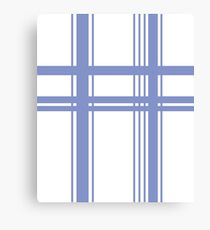 Blue and White Lines Canvas Print