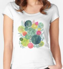 Succulent Circles Women's Fitted Scoop T-Shirt