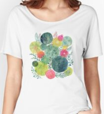 Succulent Circles Women's Relaxed Fit T-Shirt
