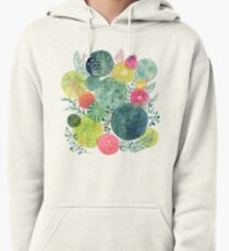 Succulent Circles Pullover Hoodie