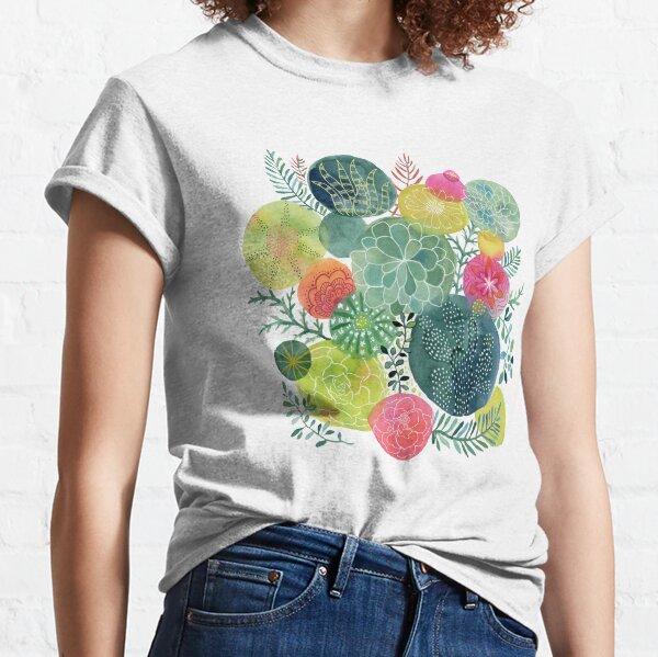 Succulent Circles Classic T-Shirt
