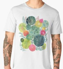 Succulent Circles Men's Premium T-Shirt