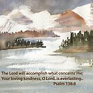 Faith and Courage: Psalm 138:8 by Diane Hall