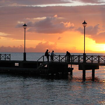 Barbados - sunset on the pier by petrolblue