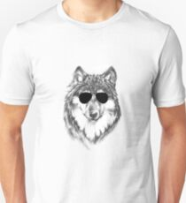 Lone Wolf in Shades Unisex T-Shirt