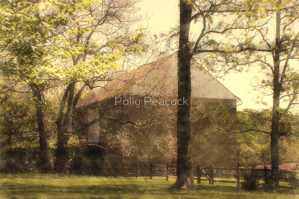 Old Stone Barn by Polly Peacock