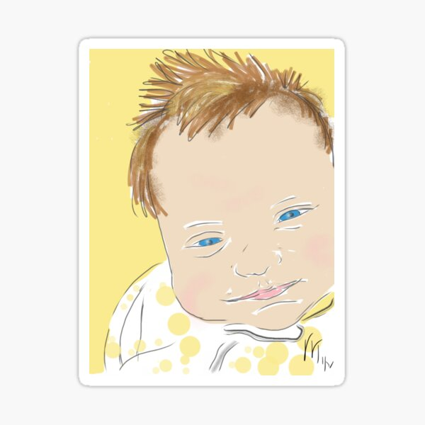 Sweet Smiling Baby Face  Sticker
