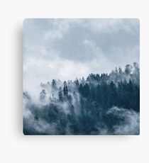 Cloudy Forest Wilderness Adventure Canvas Print