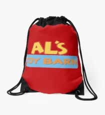 Al's Toy Barn Drawstring Bag