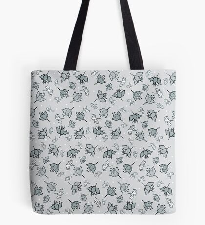 Shades of gray flowers Tote Bag