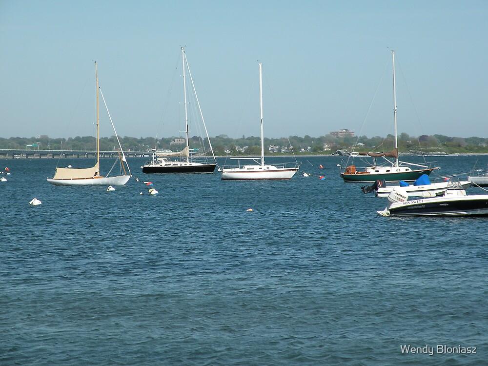 Boats in Newport by Wendy Bloniasz