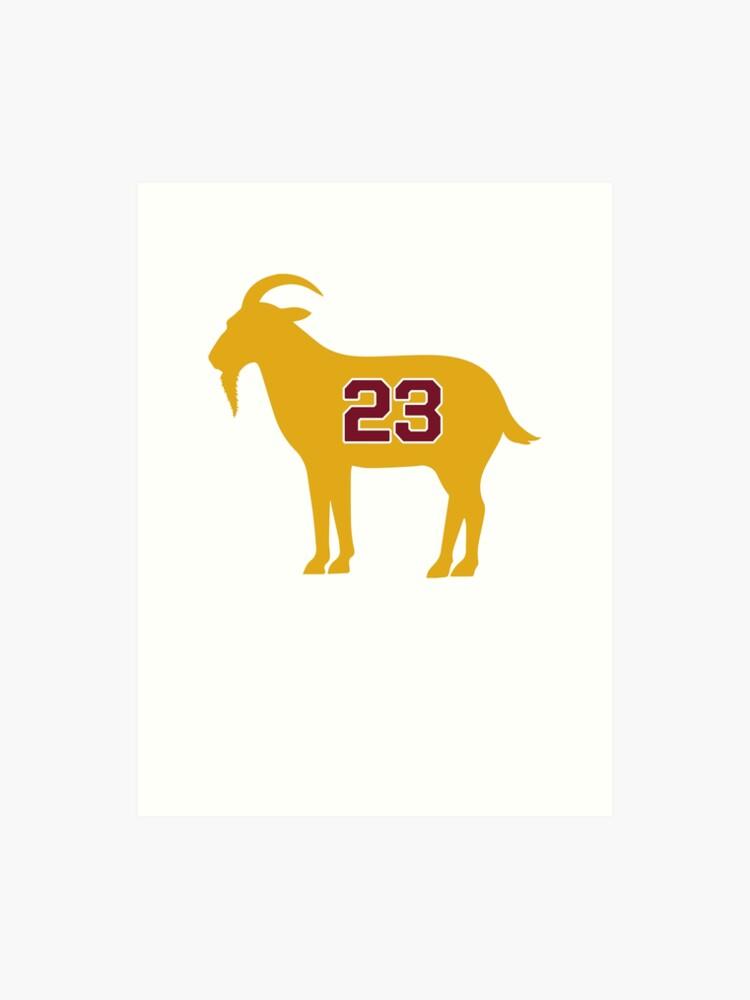 buy popular 8b58c ba784 LeBron James Shirt | LeBron Goat | King James Crown Tshirt | Cleveland The  Goat 23 | LBJ Shirt LeBron GOAT | Art Print