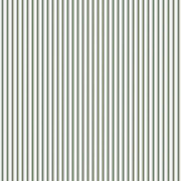 Small Dark Forest Green and White Mattress Ticking Stripes by podartist