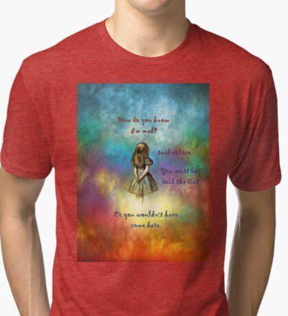 Wonderland Time - Alice In Wonderland Quote Camiseta de tejido mixto