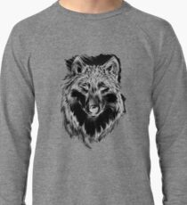Lone Wolf in Gray Scale Awesome Hand Drawn Art Lightweight Sweatshirt