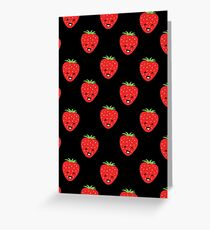 Cartoon Strawberry Phone Case, Sticker & Card Greeting Card