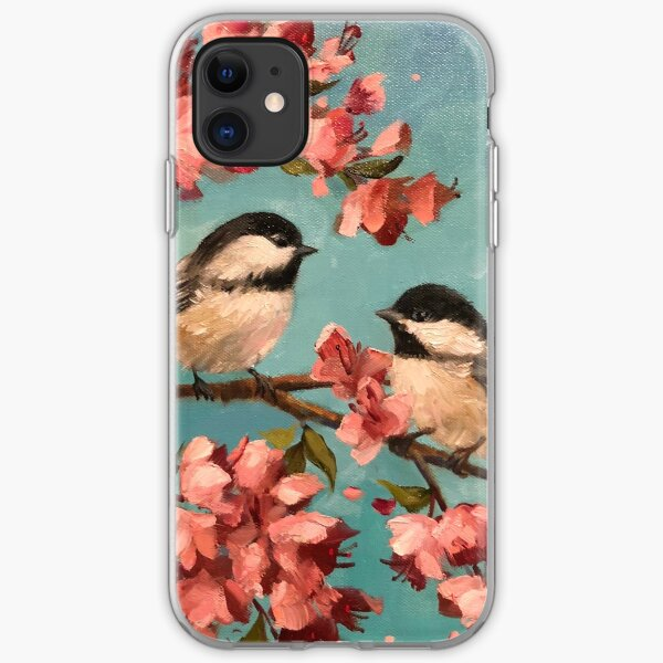 Chickadees & Cherry Blossoms iPhone Soft Case