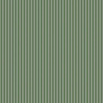 Small Dark Forest Green Mattress Ticking Bed Stripes by podartist