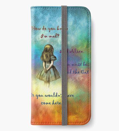Wonderland Time - Alice In Wonderland Quote Funda tarjetero para iPhone