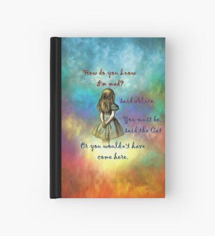 Wonderland Time - Alice In Wonderland Quote Cuaderno de tapa dura