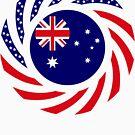 Australian American Multinational Patriot Flag Series by Carbon-Fibre Media