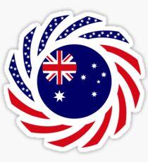 Australian American Multinational Patriot Flag Series Sticker