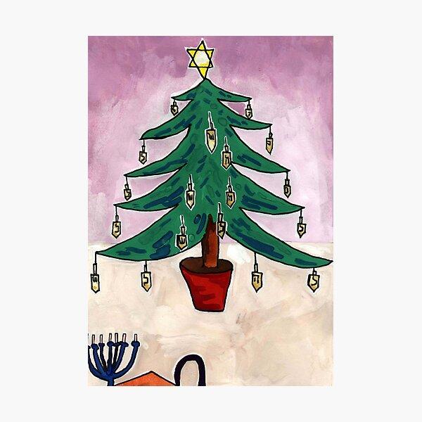 Dreidel Christmas Tree Photographic Print