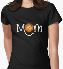 Classic Basketball Mom Gift Mom with Basketball Women's Fitted T-Shirt