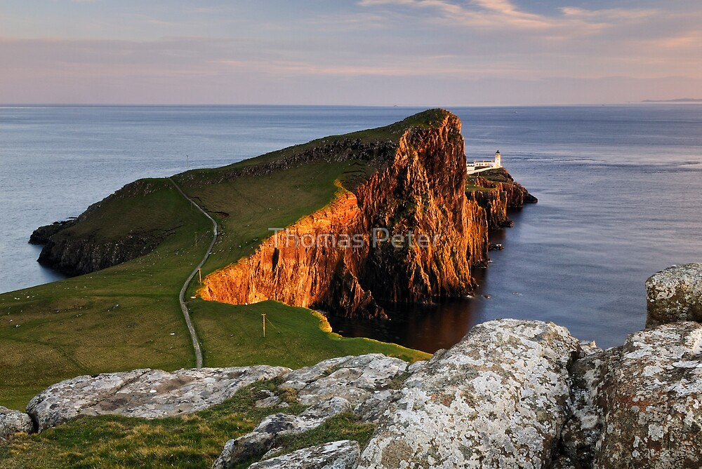Quot Neist Point Sunset Isle Of Skye Quot By Thomas Peter Redbubble