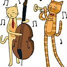 Jazzy Cats by kellie-jayne