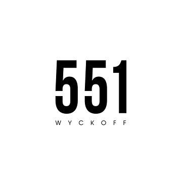 Wyckoff, NJ - 551 Area Code design by CartoCreative