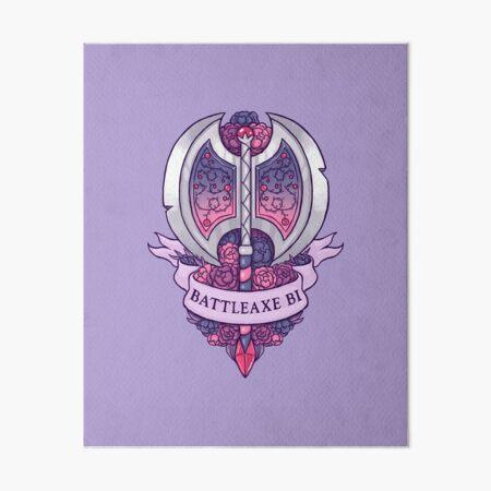 BATTLEAXE BI Art Board Print