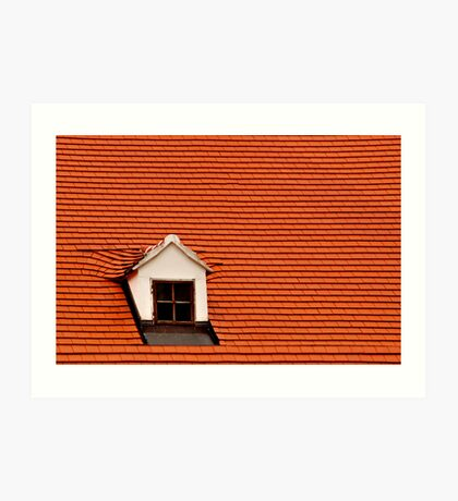 Red Roof and Window Art Print