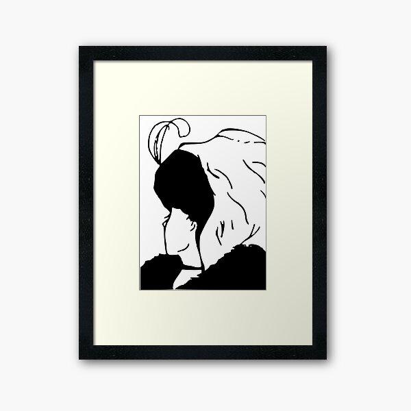 Beautiful Girl & Old Woman Framed Art Print