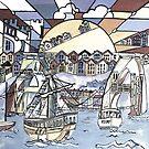 Bristol harbour by Miles Design Art