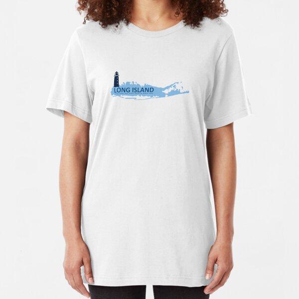 Long  Island - New York. Slim Fit T-Shirt