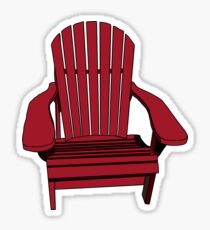 Sit back and relax in the Muskoka Chair Sticker