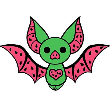 Watermelon Fruit Bat by maddisonlea