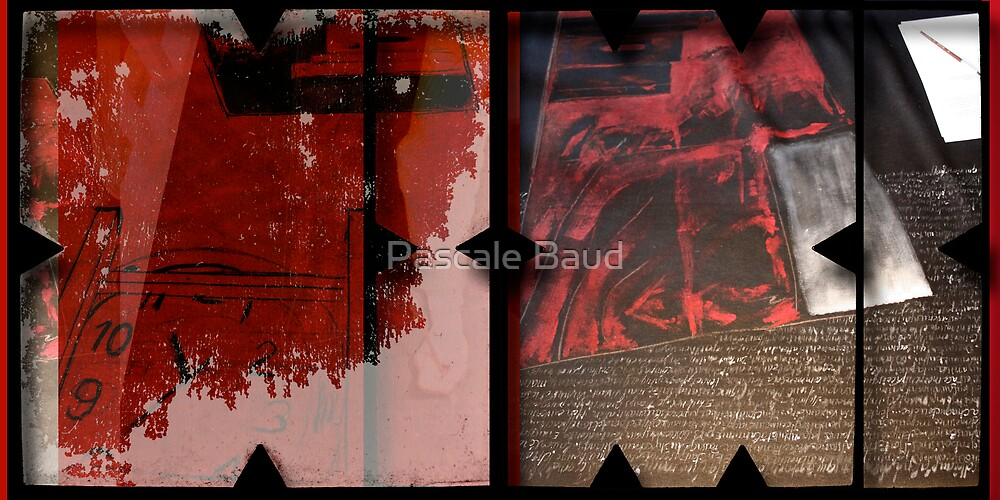 Open work about Open red (7) by Pascale Baud